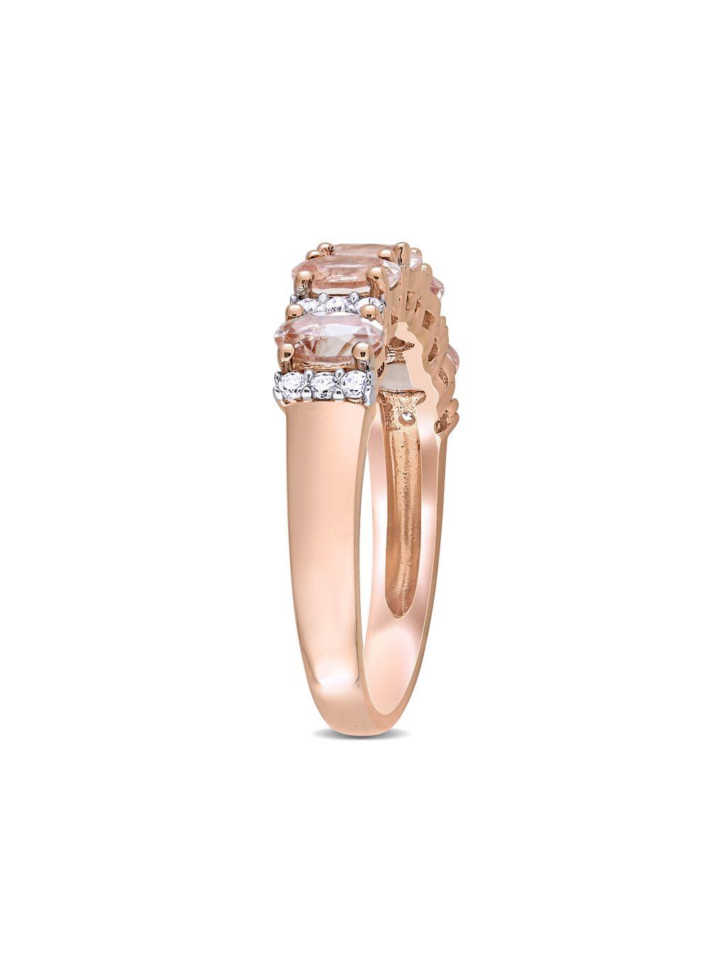 Saks Fifth Avenue 14K Rose Gold, Morganite & Diamond Ring