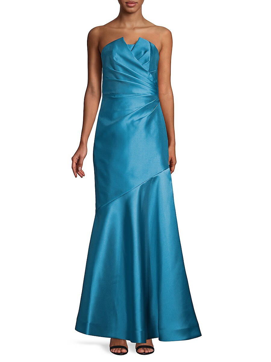 Women's Mikado Pleated Gown