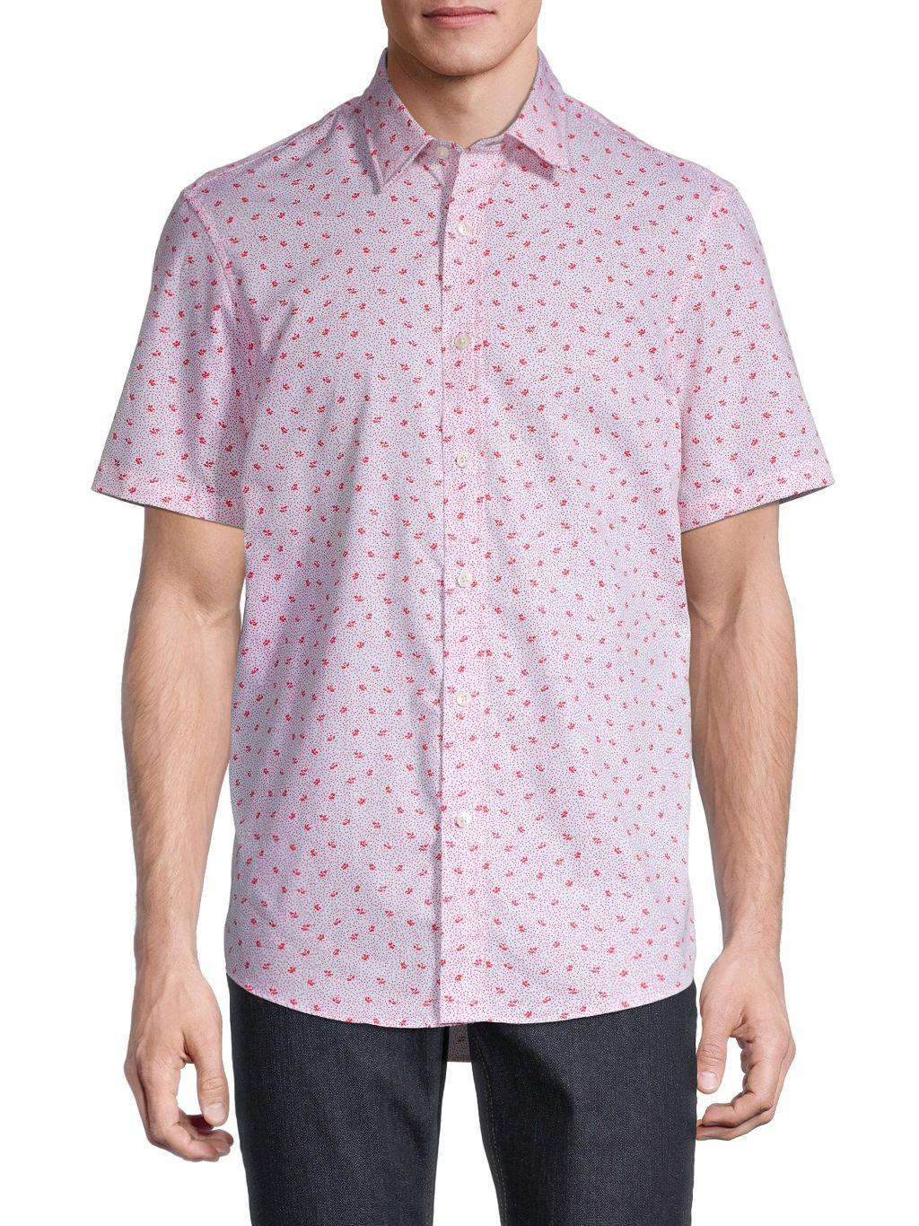 Michael Kors Amos Printed Short-Sleeve Shirt