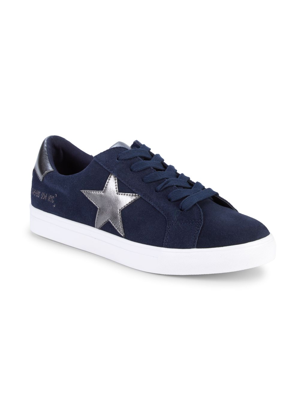 Steve Madden Talon Star Patch Suede Low-Top Sneakers