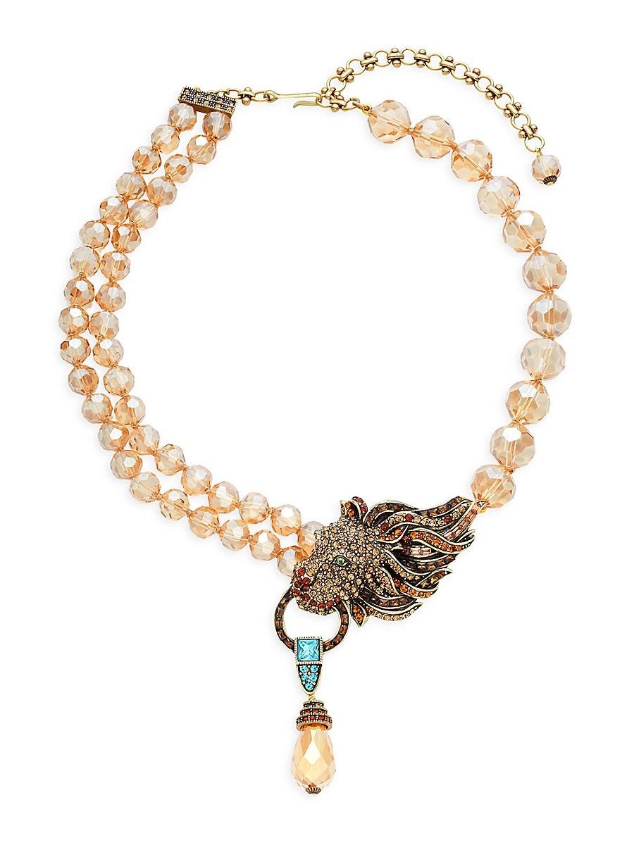 Women's Lion Roar Crystal & Rhinestone Necklace
