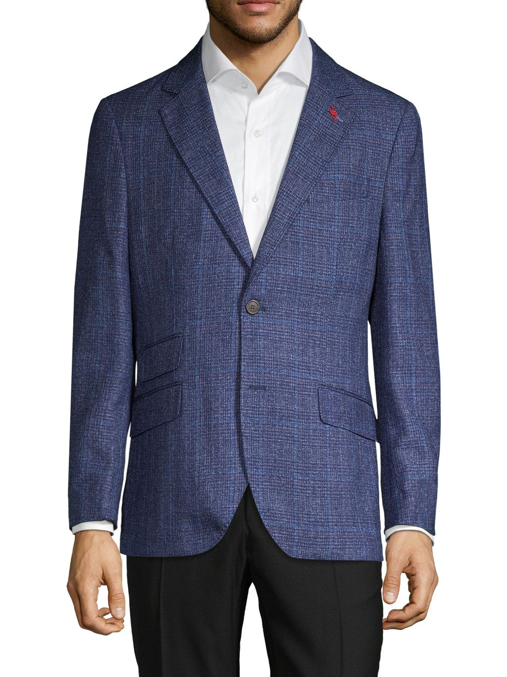 TailorByrd Standard-Fit Plaid Sportcoat