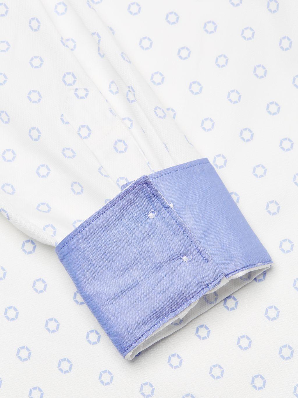 Bertigo Geometric-Print Cotton Shirt