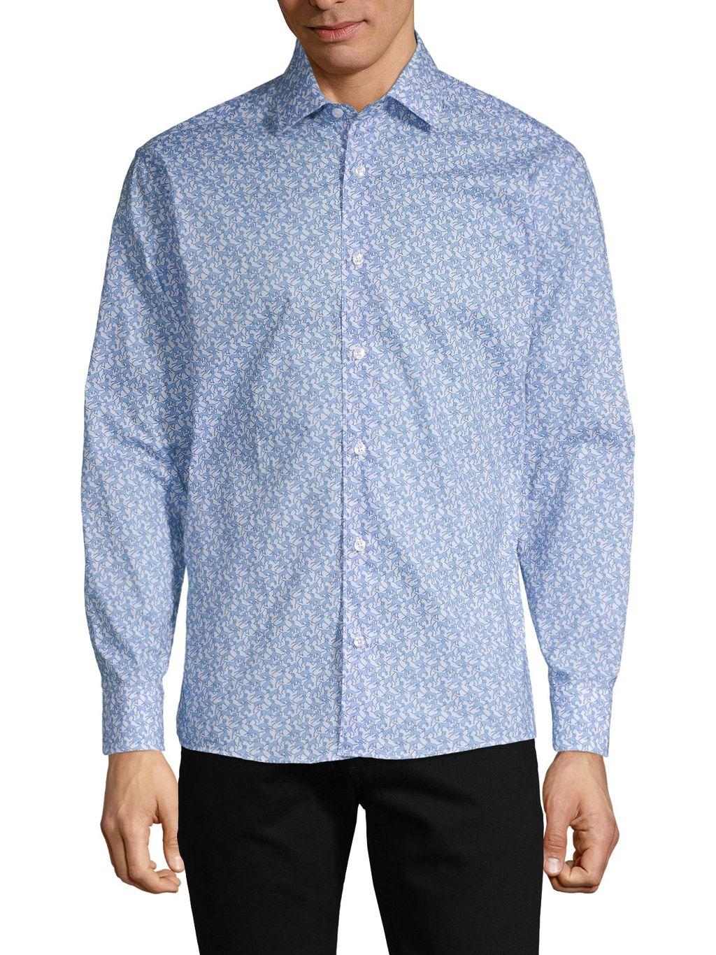 Bertigo Printed Long-Sleeve Shirt