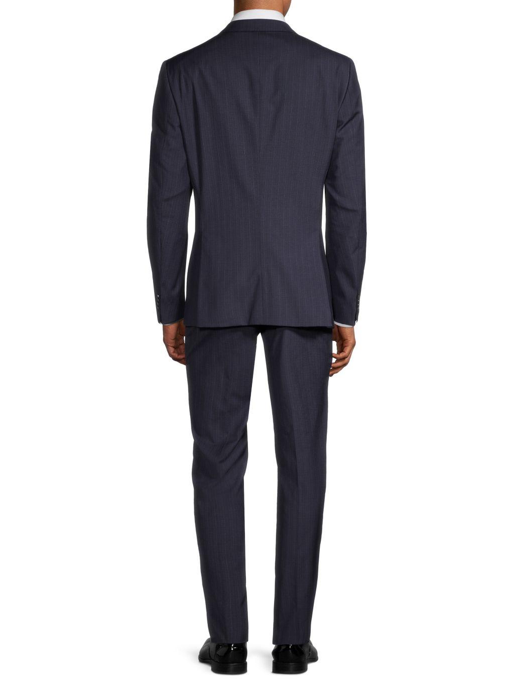 Hugo Boss Super 110 Genius Check Regular-Fit Virgin-Wool Suit