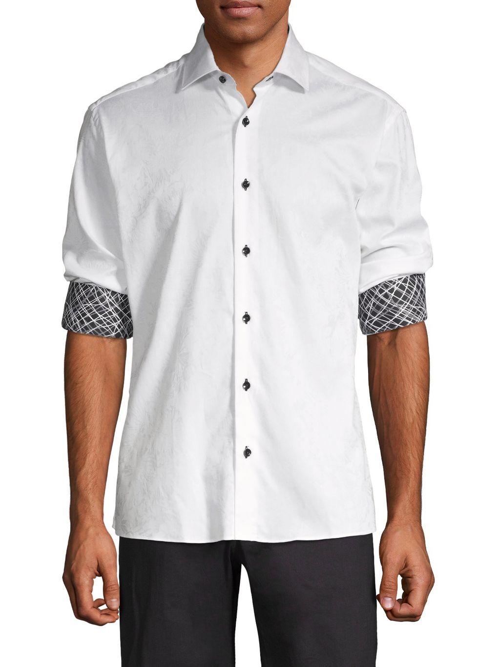 Bertigo Jacquard Floral Shirt
