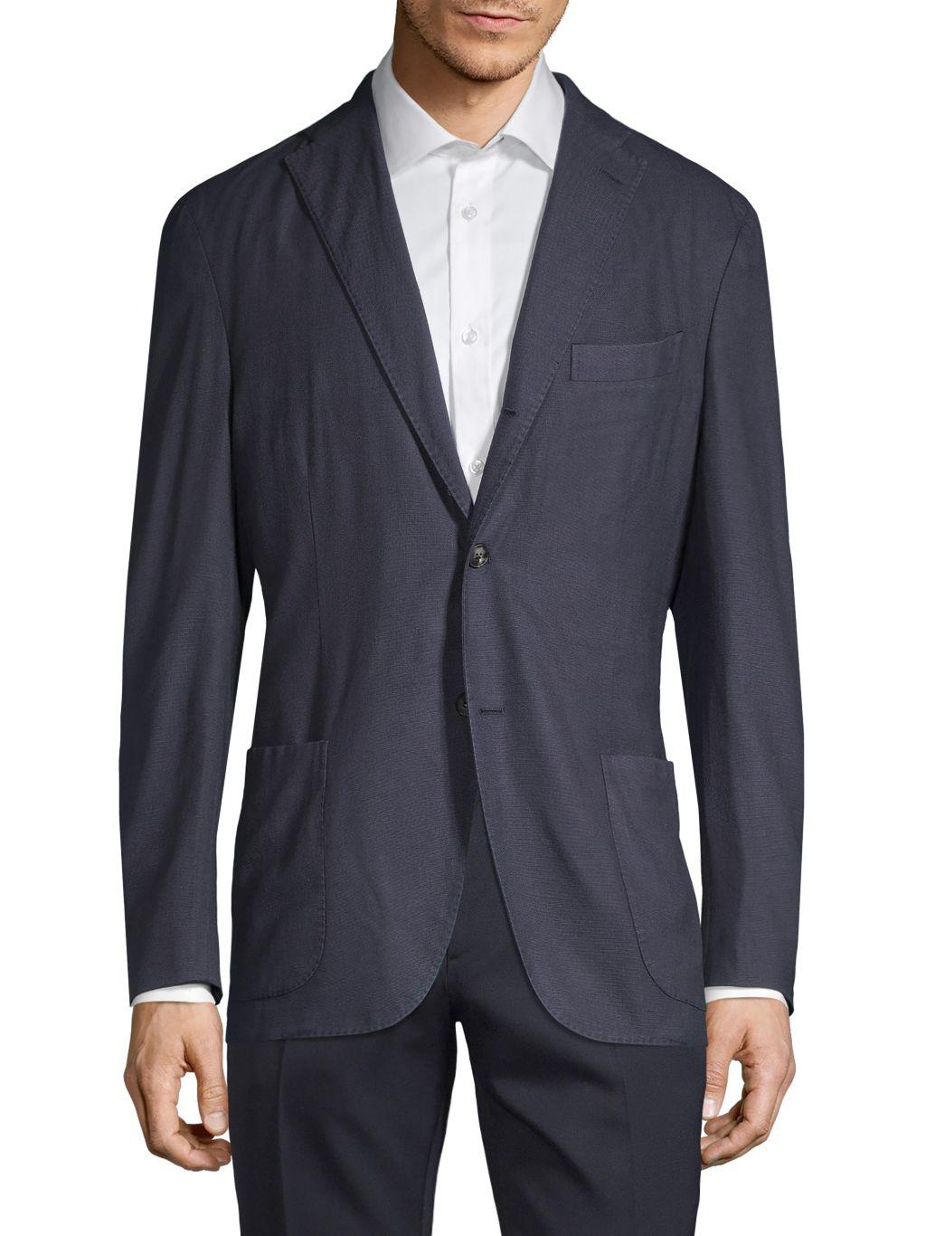 Boglioli Wool Hopsack Suiting Jacket