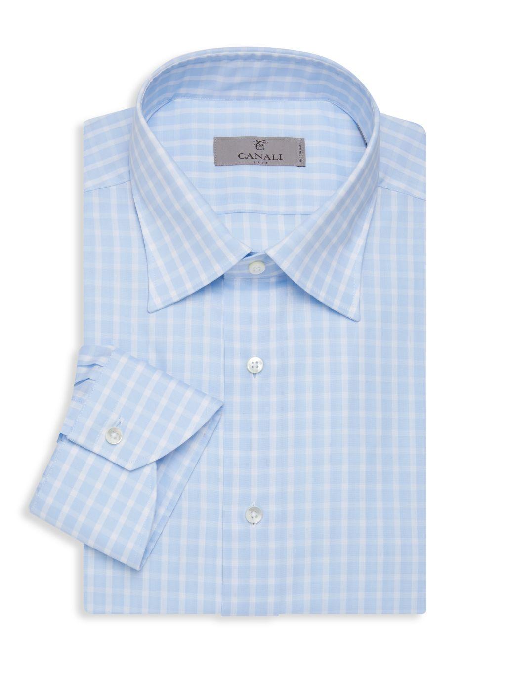 Canali Modern-Fit Check Dress Shirt