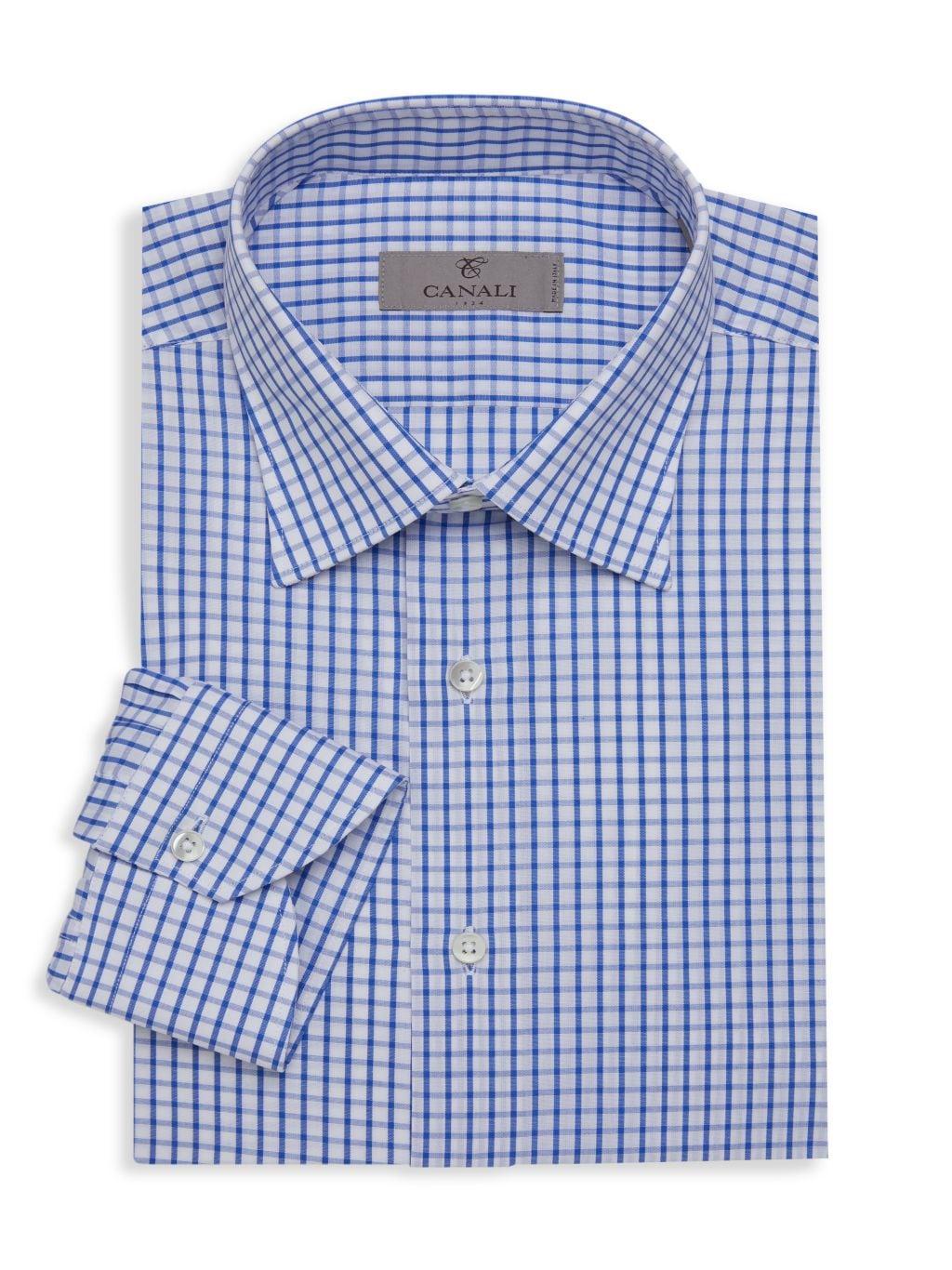 Canali Check Dress Shirt