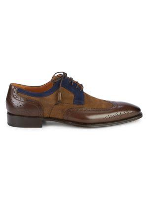 Mezlan Colorblock Leather & Suede Oxfords