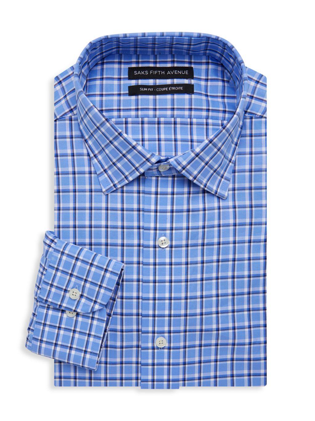 Saks Fifth Avenue Slim-Fit Check Dress Shirt