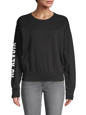 N:philanthropy Roundneck Cotton-sleeve Sweatshirt In Black