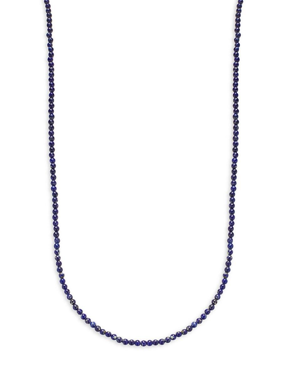 Men's Lapis Beaded Necklace