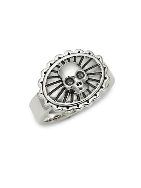 King Baby Studio Sterling Silver Skull Concho Ring