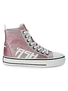 아쉬 스니커즈 ASH Glover High-Top Glitter Sneakers,PINK_SILVER