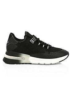 아쉬 스니커즈 ASH Krush High-Tech Glitter Sneakers,BLACK