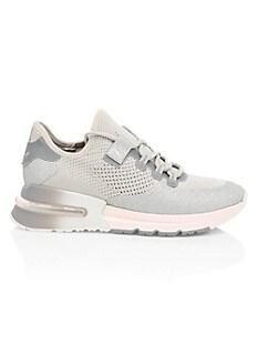 아쉬 스니커즈 ASH Krush High-Tech Glitter Sneakers,LIGHT GREY