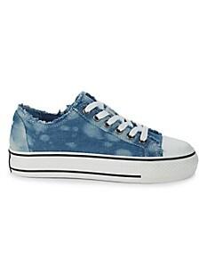 아쉬 스니커즈 ASH Viki Fringed Sneakers,BLUE