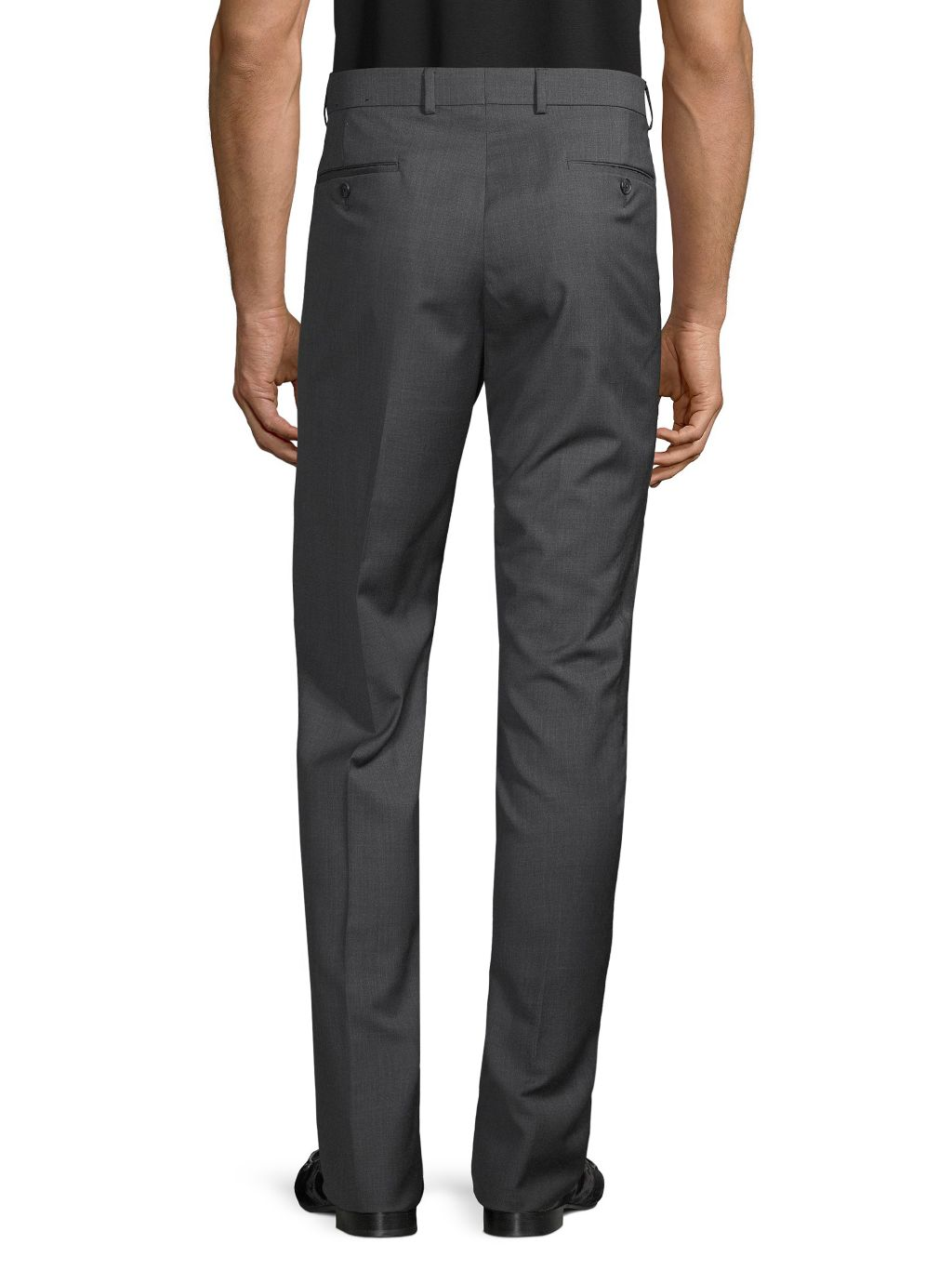 Saks Fifth Avenue Marzotto Italian Fabric-Flat Front Wool Pants