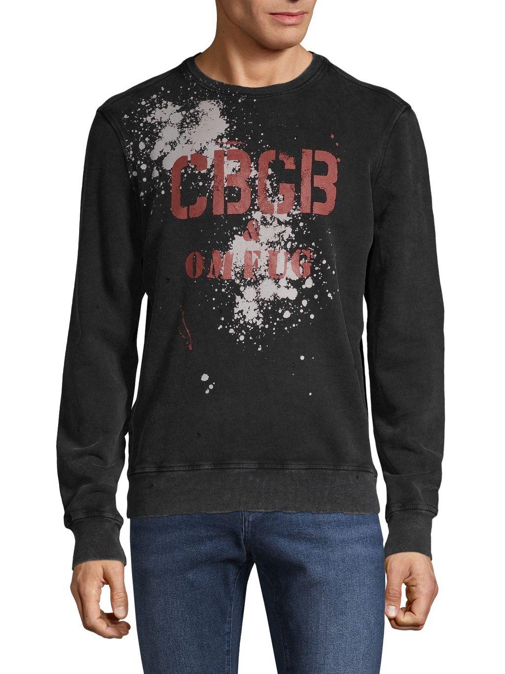 John Varvatos Star U.S.A. Logo Graphic Cotton Sweatshirt