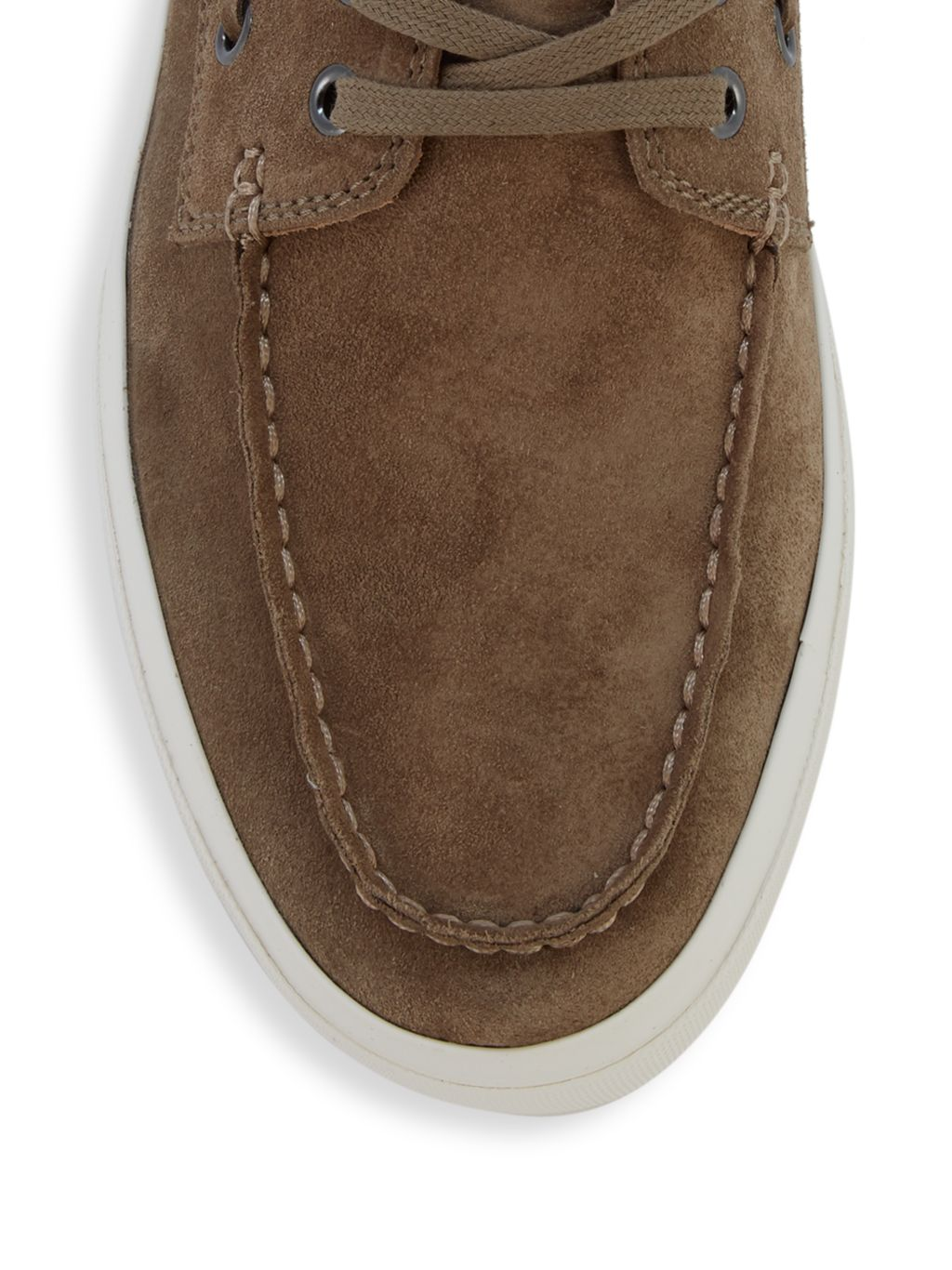 Vince Ferry Suede Boat Shoes