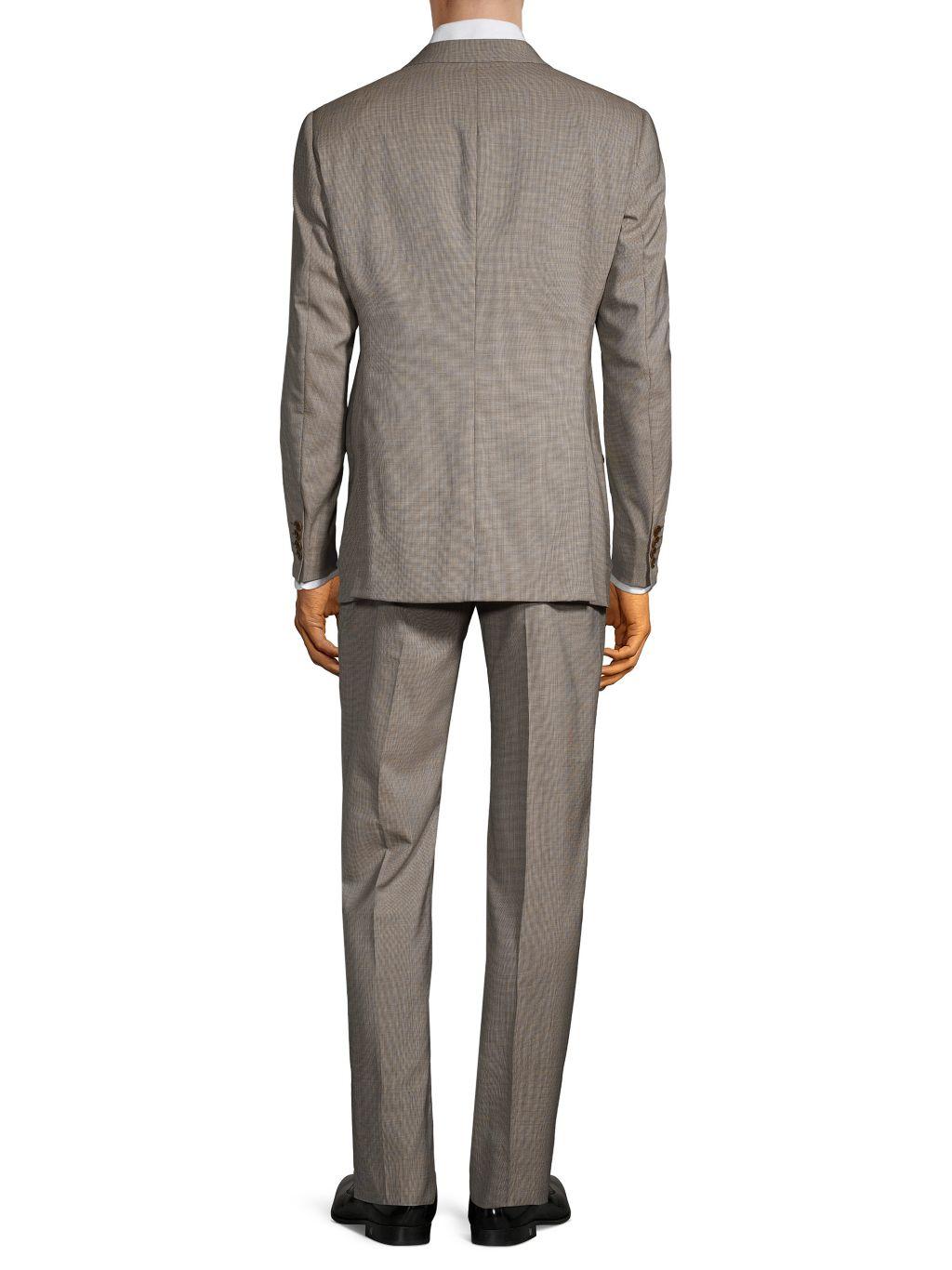 Armani Collezioni G-Line Fit Check Virgin-Wool Suit
