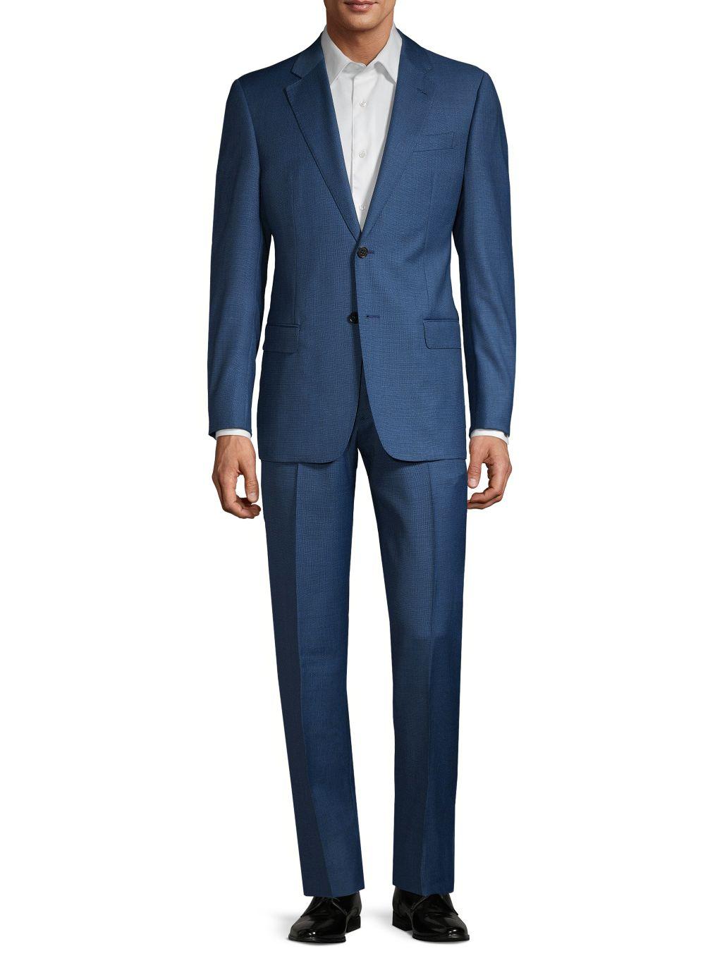 Emporio Armani G-Line Fit Pindot Virgin-Wool Suit