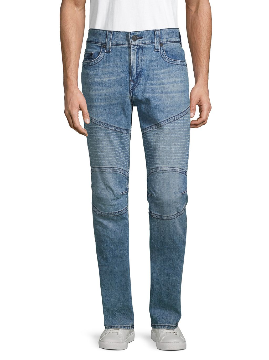 True Religion Rocco Moto Relaxed Skinny Jeans