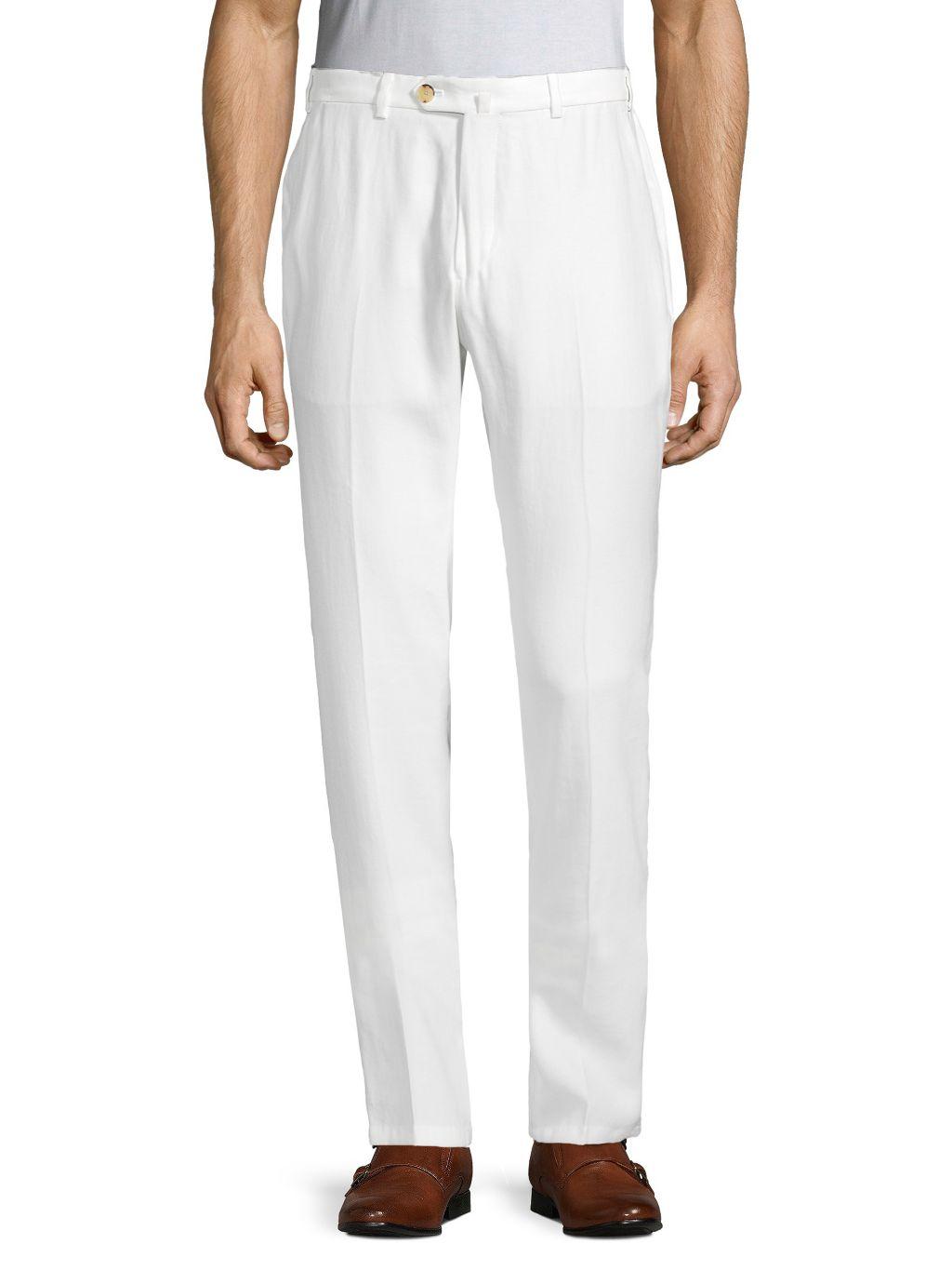 Armani Collezioni Flat-Front Trousers