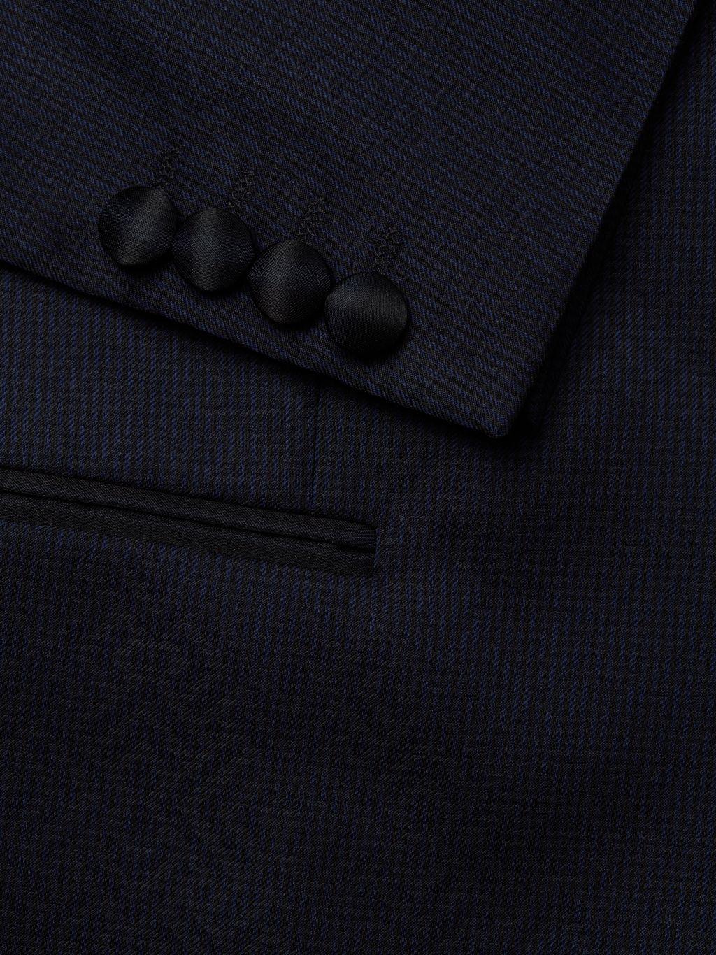 Armani Collezioni G-Line Geometric-Print Virgin Wool Dinner Jacket
