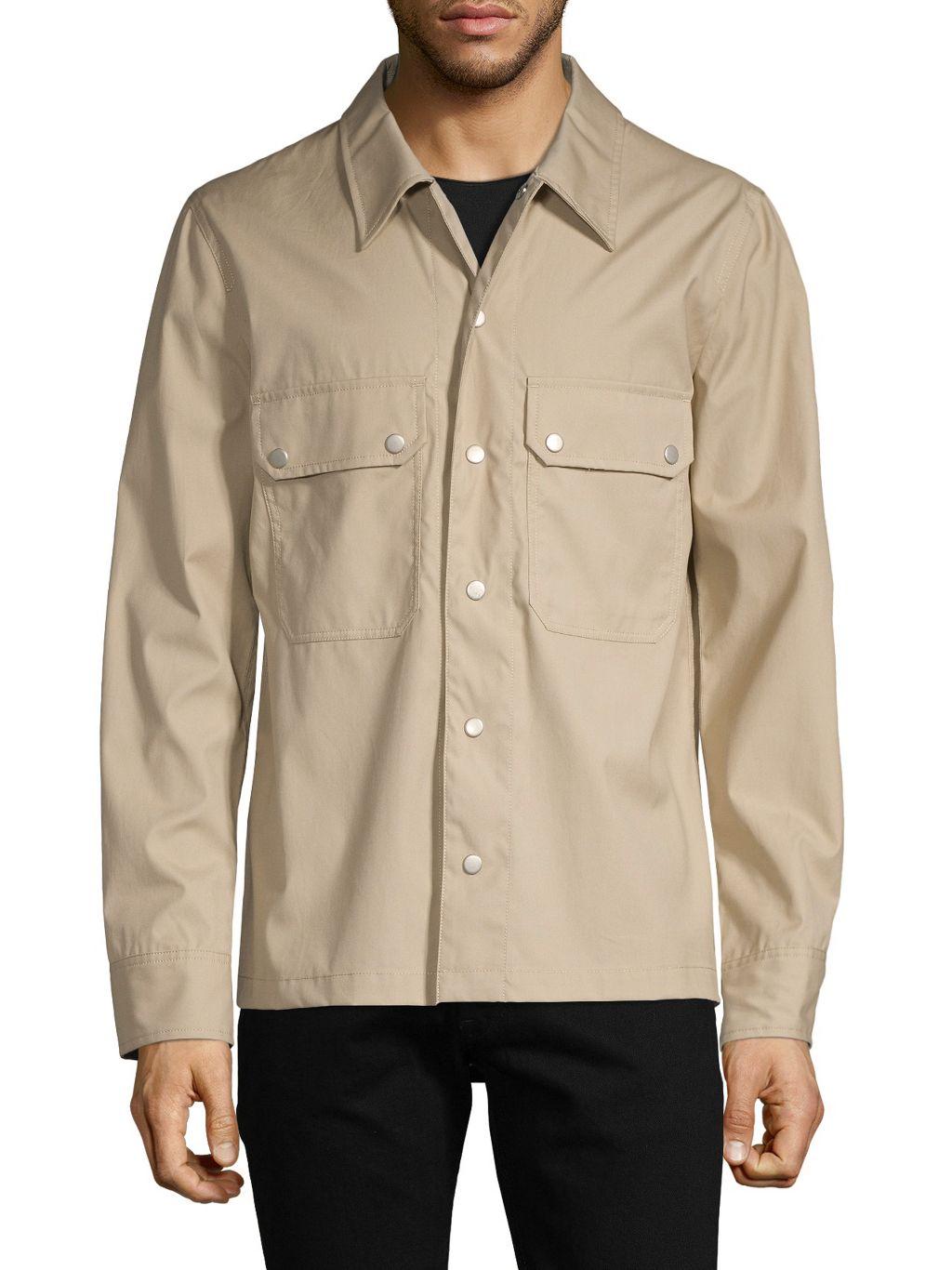 Helmut Lang Snap Cotton Shirt Jacket