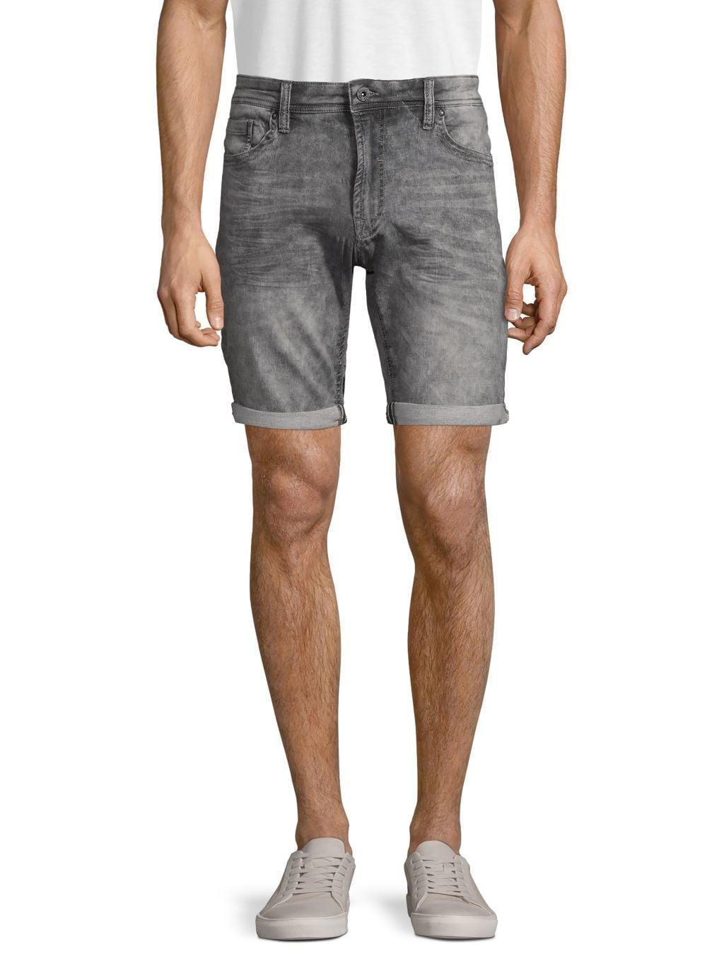 PROJEK RAW Logo Patch Denim Shorts