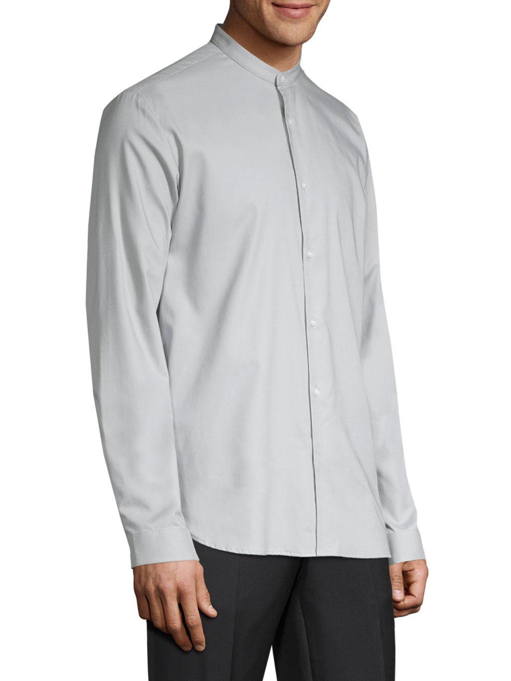 HUGO Eddison Relaxed-Fit Mandarin Collar Shirt