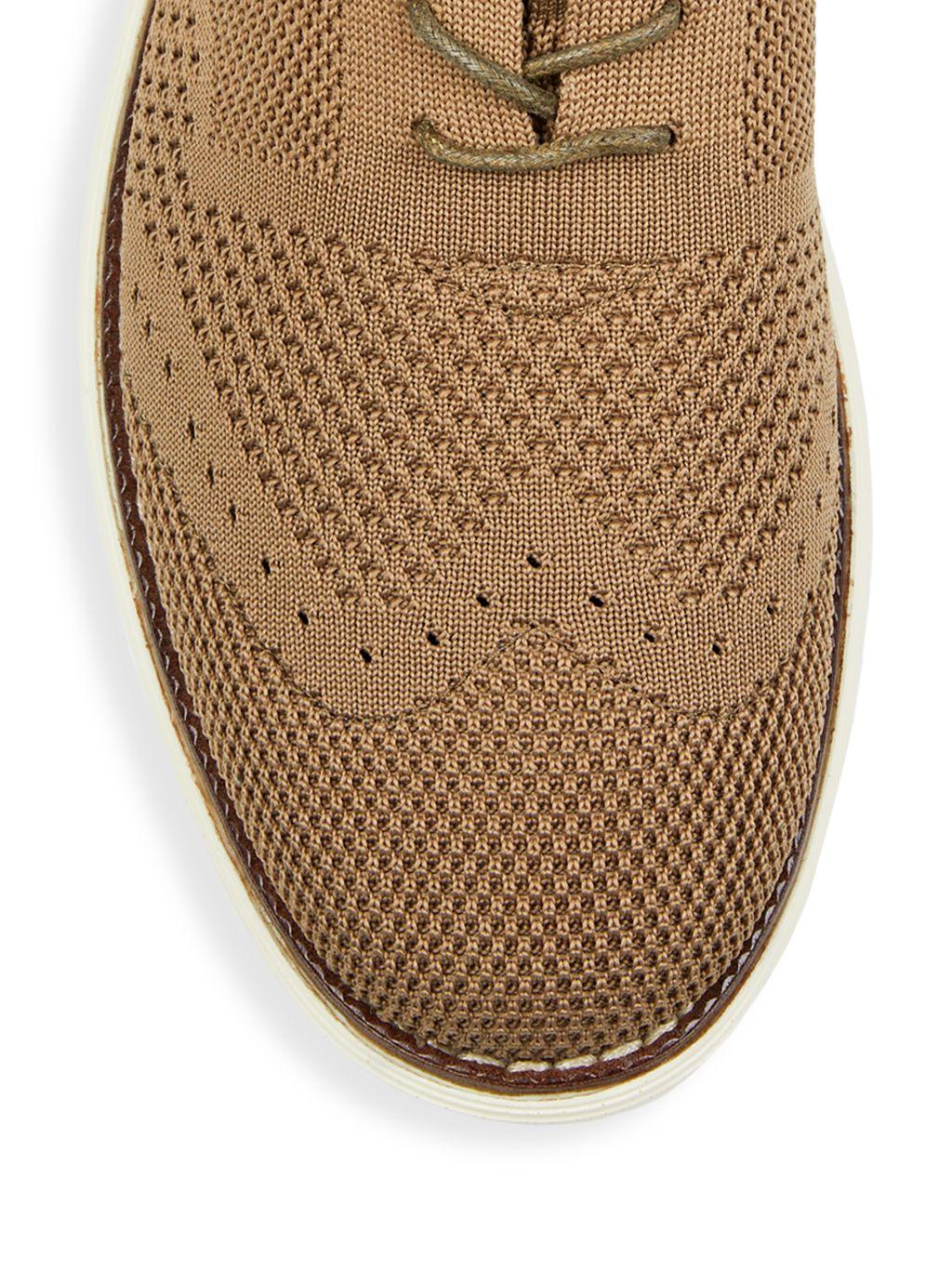 B Blass Textured Knit Oxfords