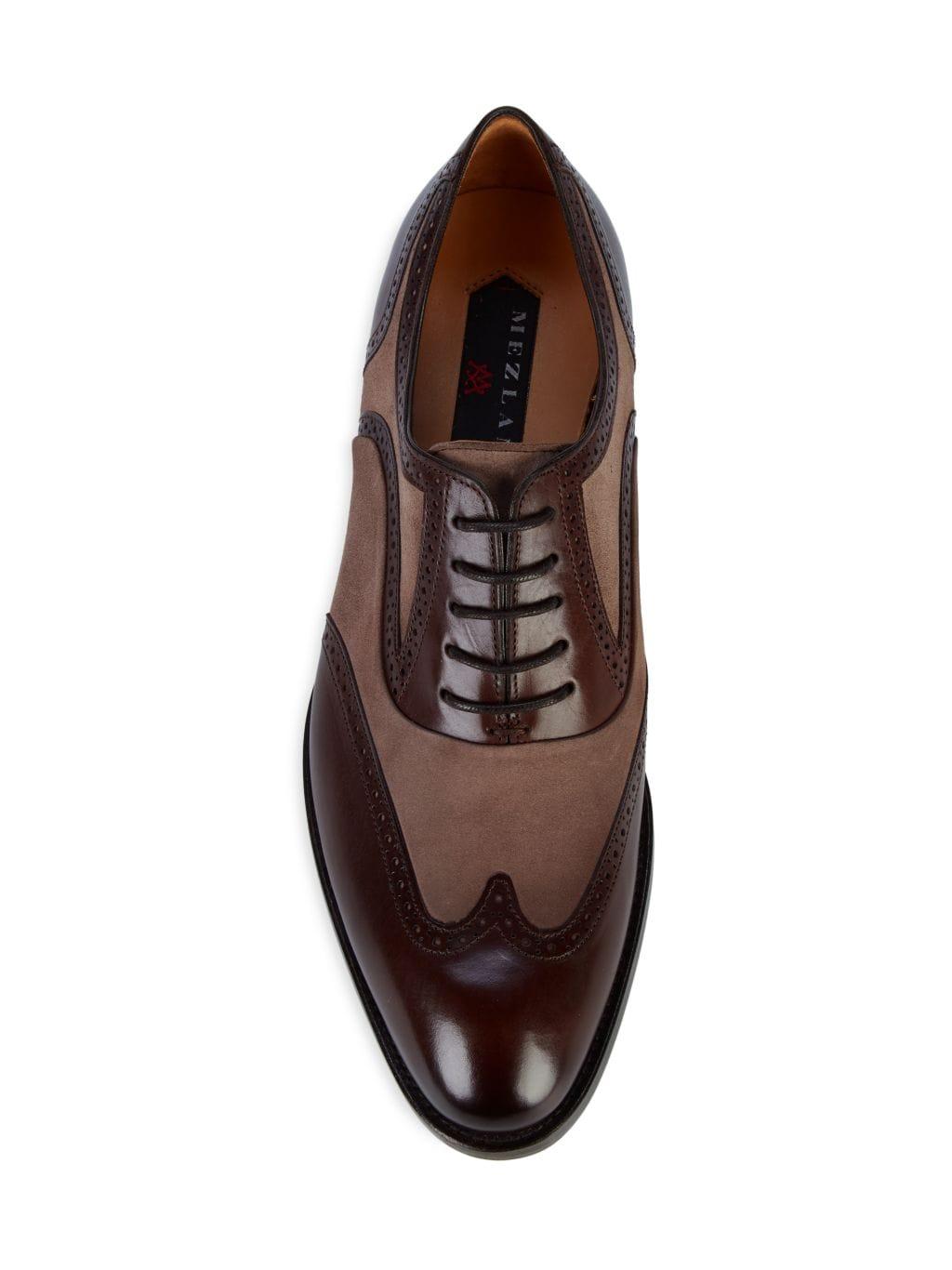 Mezlan Cantone Suede & Leather Oxfords