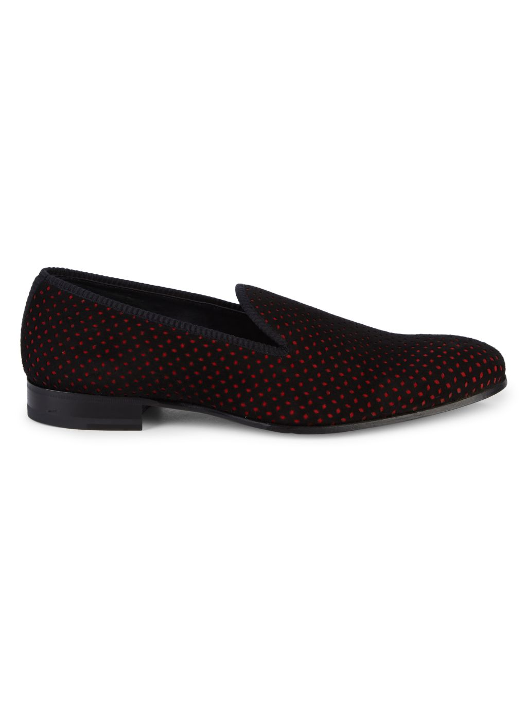 Mezlan Cibeles Dotted Suede Loafers