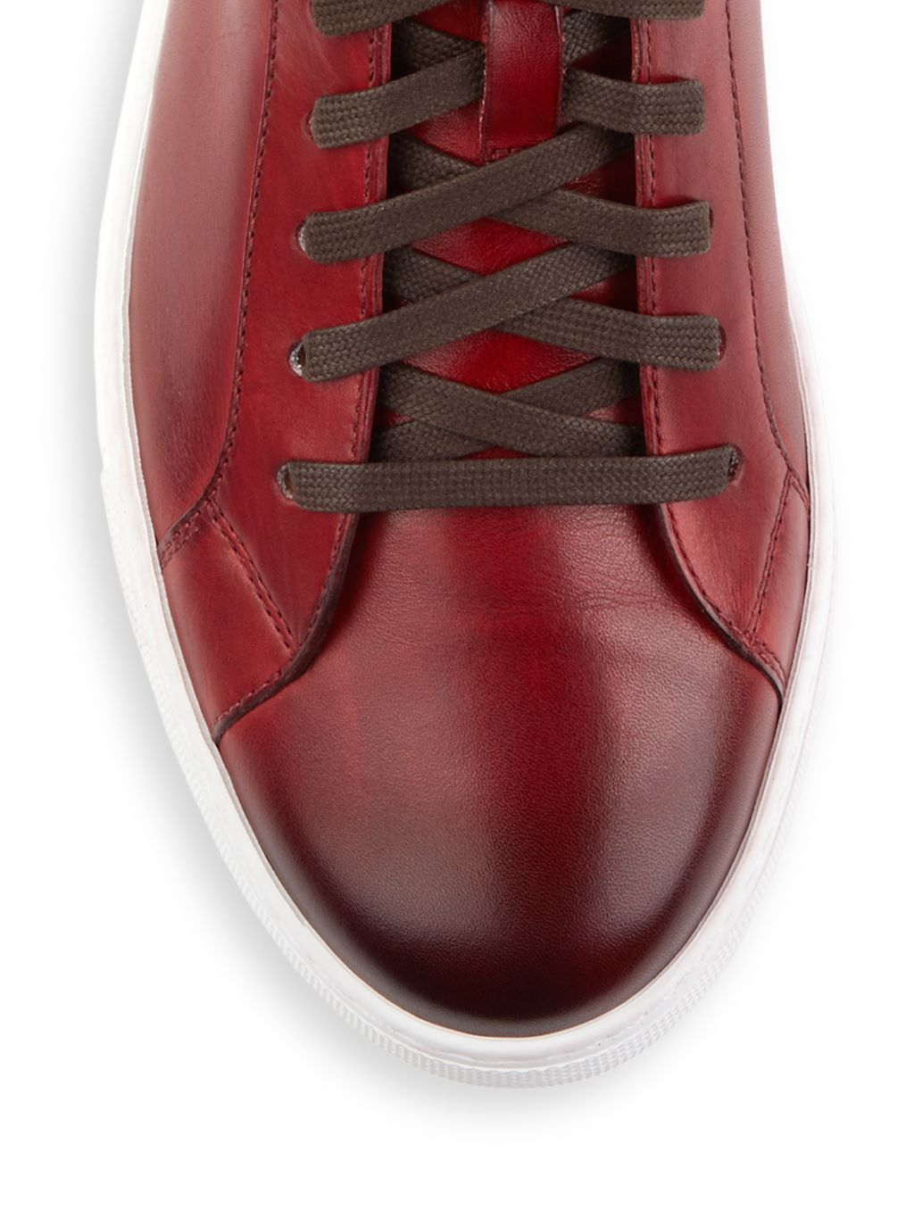 Magnanni Leather Mid-Top Sneakers