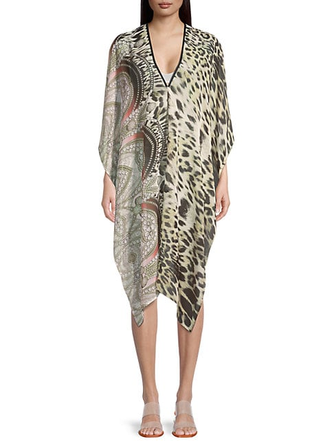 La Fiorentina Printed High-low Coverup