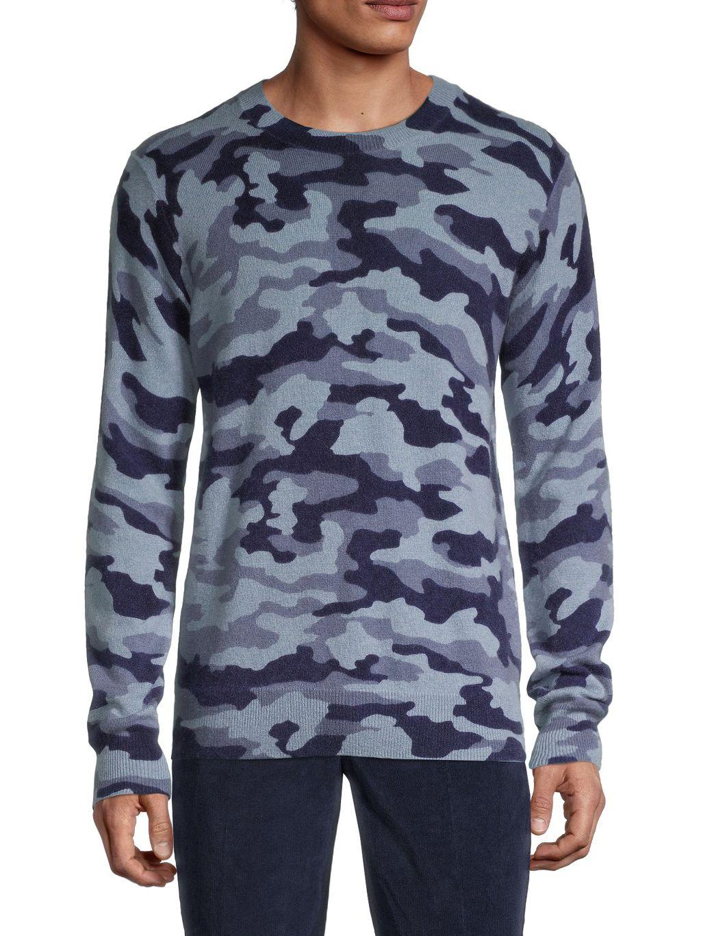 Saks Fifth Avenue Camo Cashmere Sweater