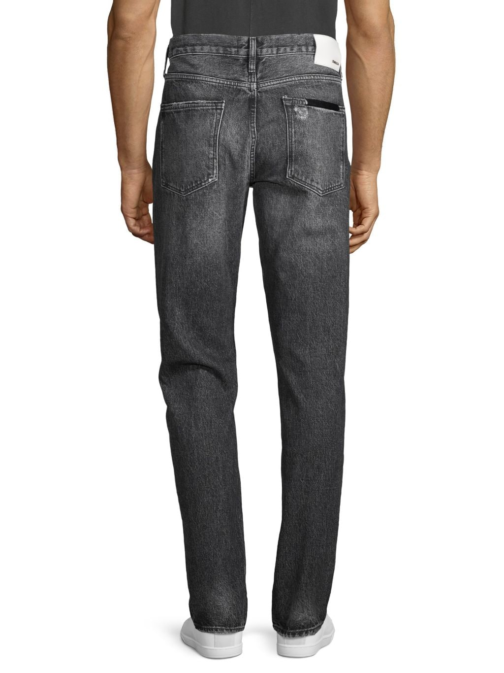 Ovadia & Sons Distressed Straight Tapered Jeans