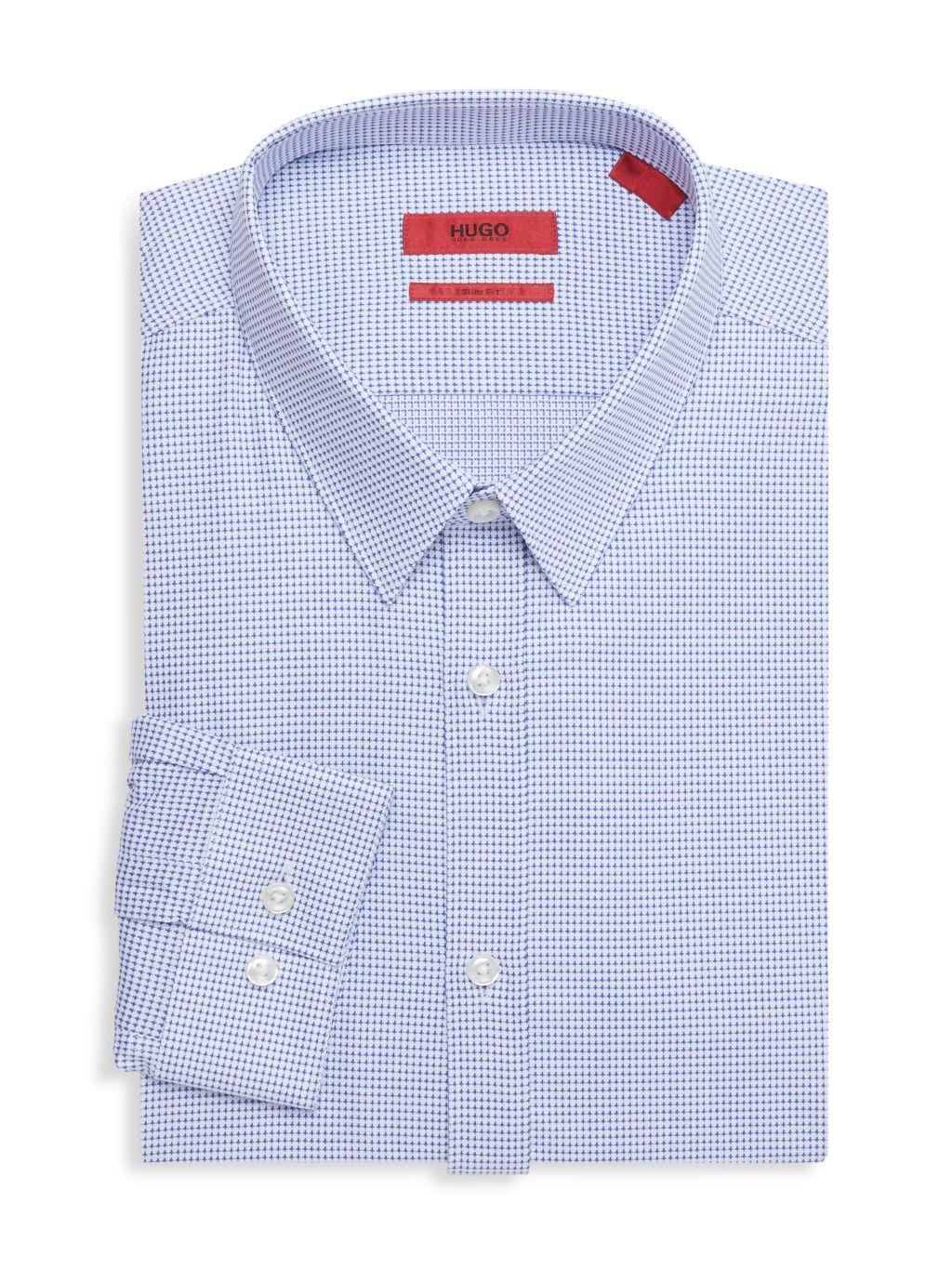 HUGO Slim-Fit Printed Dress Shirt