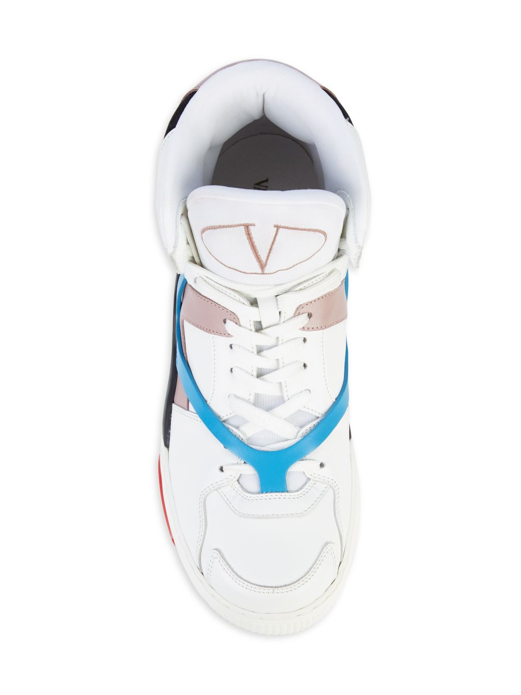 Valentino Garavani Bianco Leather High-Top Sneakers