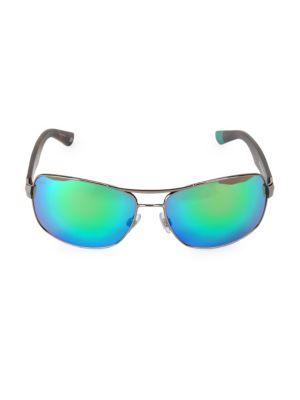 Web 65mm Metal Navigator Sunglasses In Gunmetal