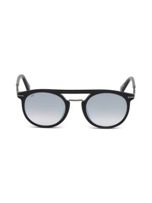 Web 49mm Round Sunglasses In Grey