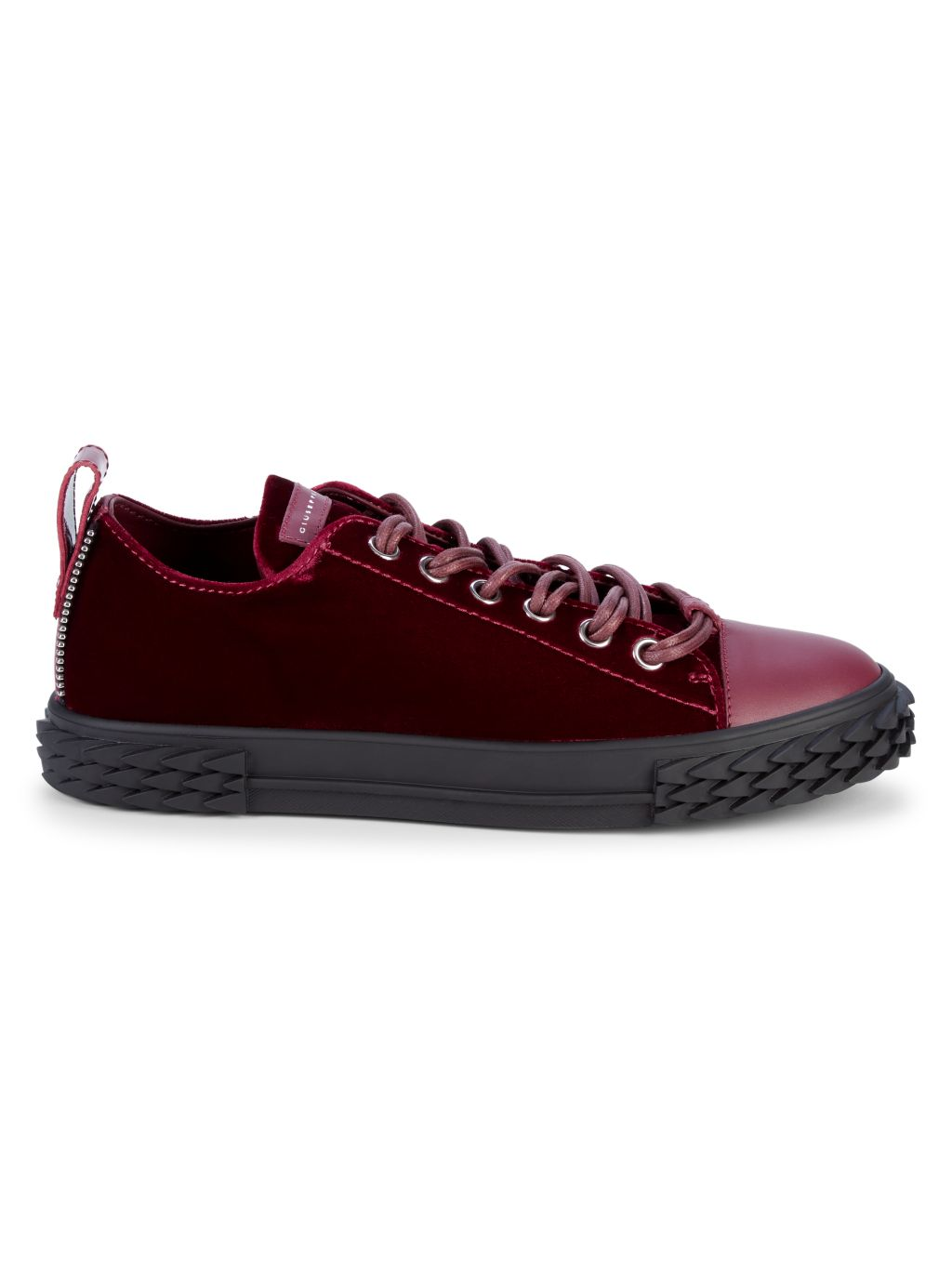 Giuseppe Zanotti Velvet & Leather Low-Top Sneakers