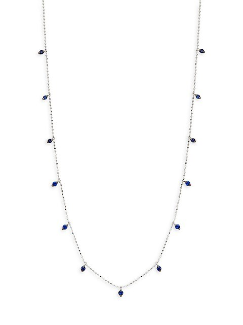 Saks Fifth Avenue 14K White Gold & Sapphire Chain Necklace