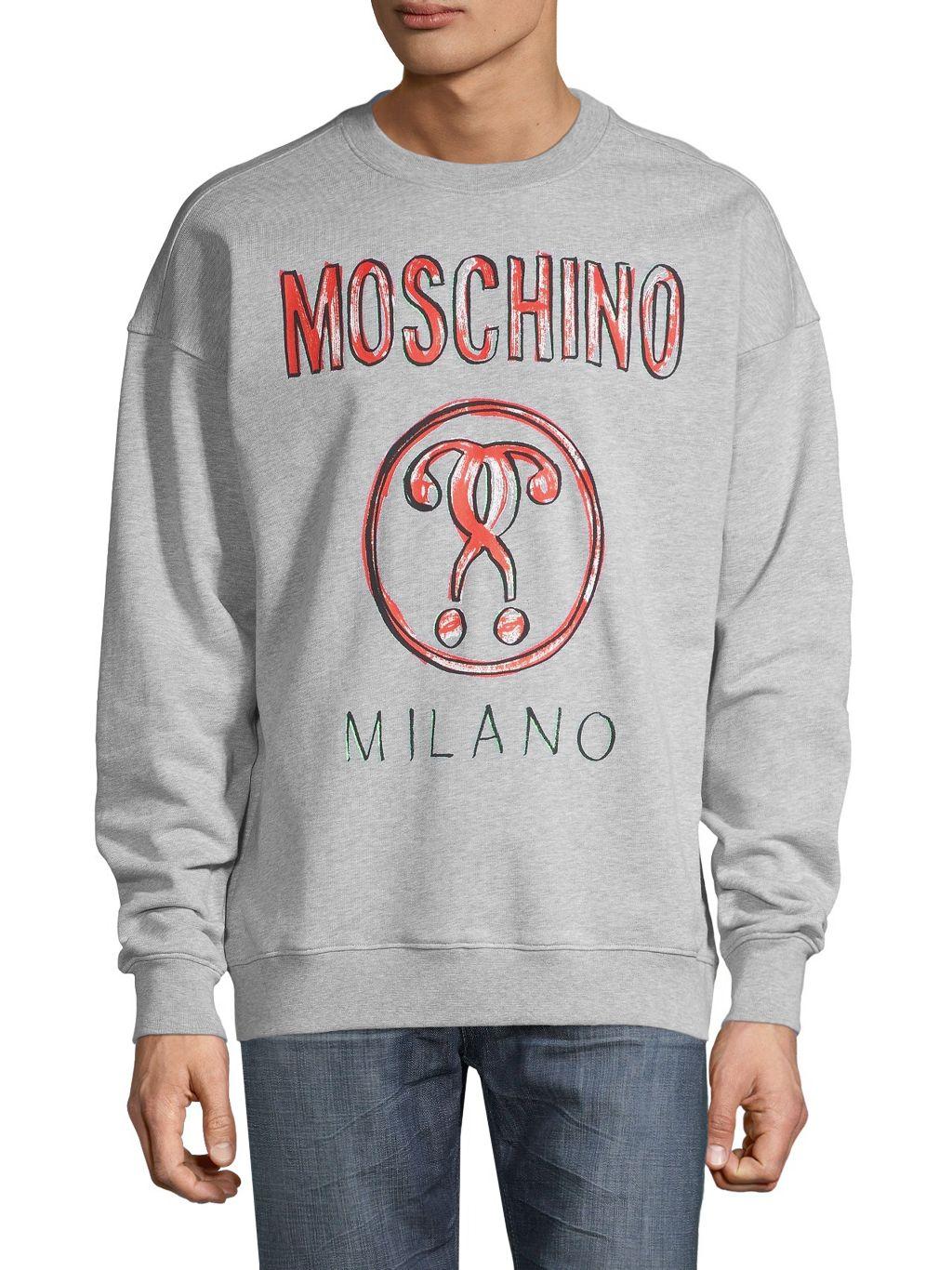 Moschino Couture! Graphic Cotton Sweatshirt