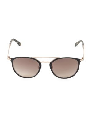 Web Round 50mm Sunglasses In Rose Gold