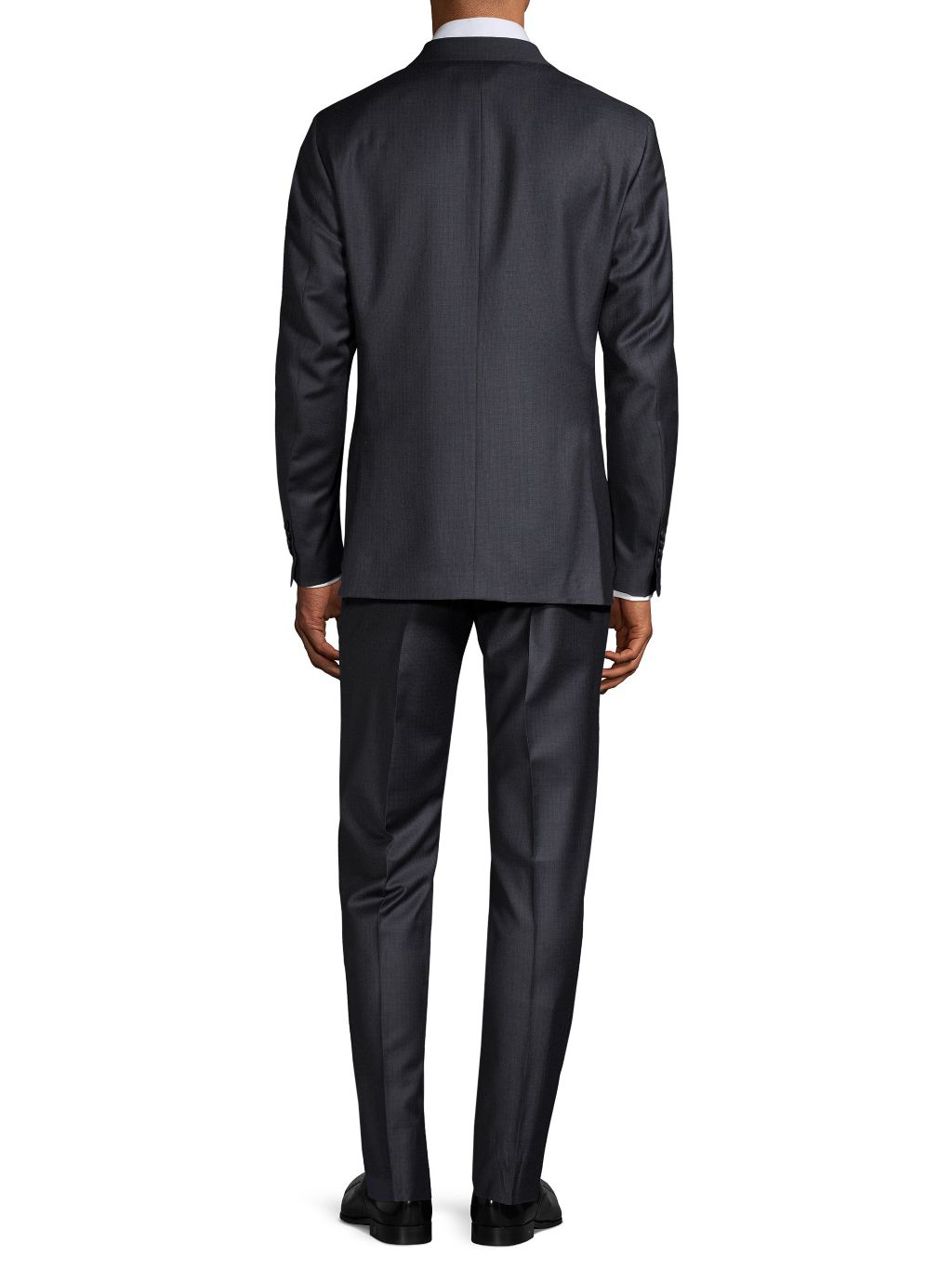 Saks Fifth Avenue Made in Italy Modern-Fit Tonal Check Wool Suit