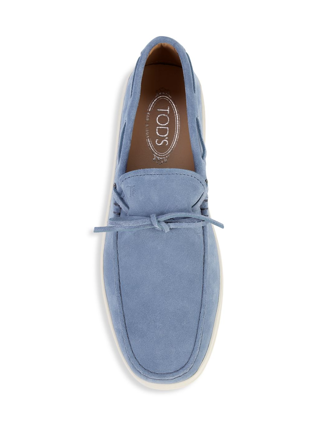 Tod's Lace-Up Suede Loafers